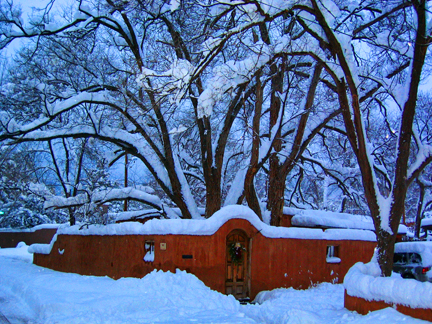 Santa Fe Winter Scene
